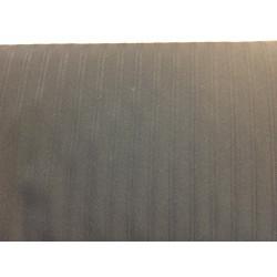 Zwart polyester met lijnmotief