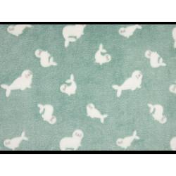groen zeehondjes fleece
