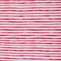 aquarel streep rood