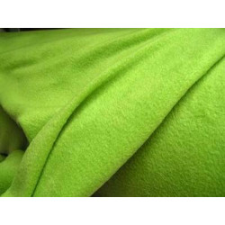 Fleece effen, appelgroen