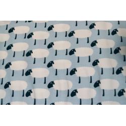 Tricot lichtblauw schaapjes