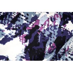 Tricot fantasie grijs-paars