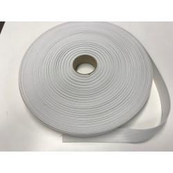 Knoopsgat elastiek wit