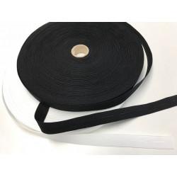 Knoopsgat elastiek zwart