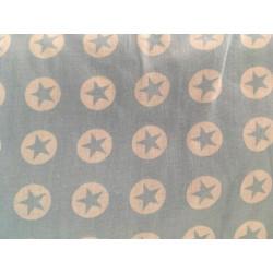 Katoen, zachtblauw met ster